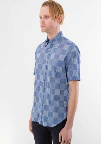Gitman Vintage Short Sleeve Patchwork Shirt