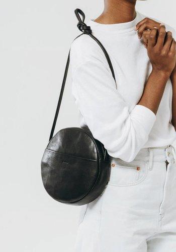 Baggu Leather Circle Zipper Purse