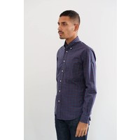 Long Sleeve Neat Plaid Poplin Shirt