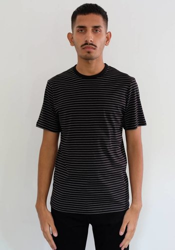Sunspel Short Sleeve Striped Crewneck