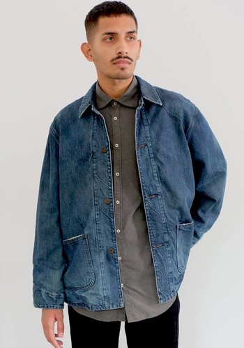 Chimala Denim X Flannel Twill Work Jacket