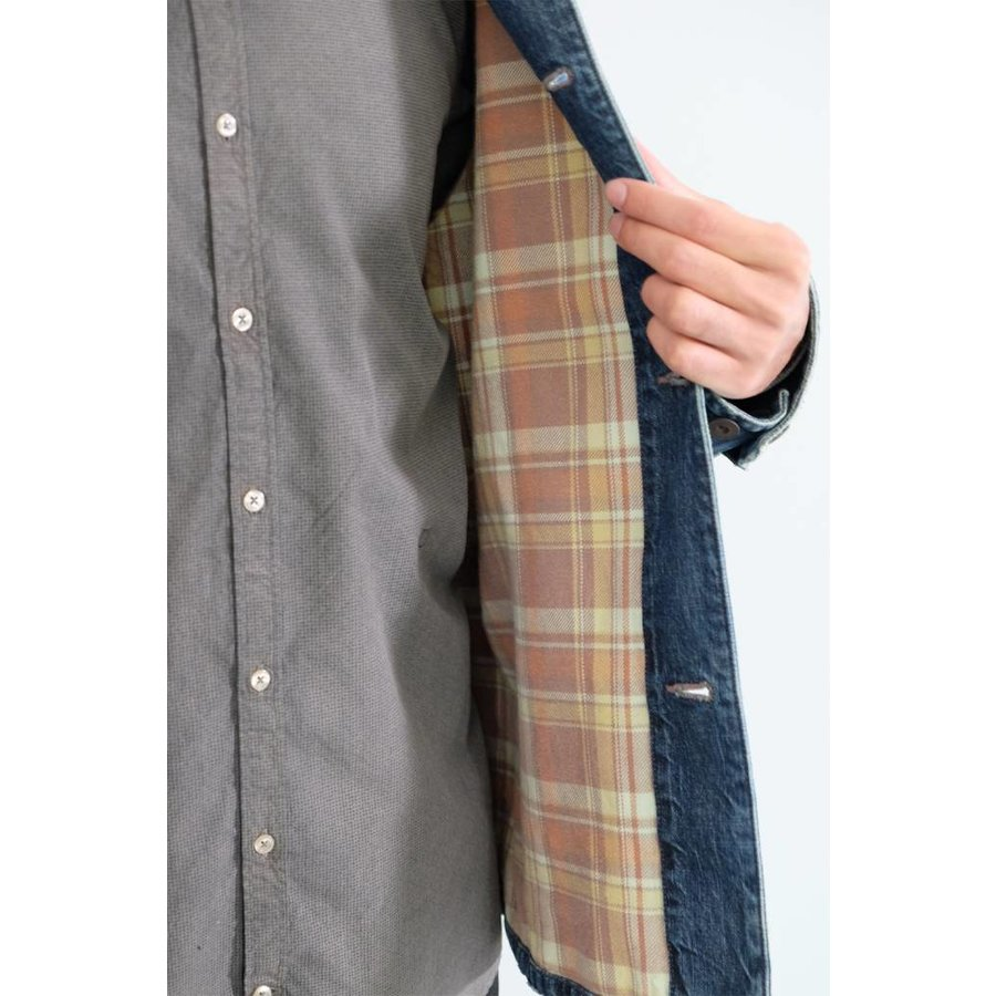 Denim X Flannel Twill Work Jacket