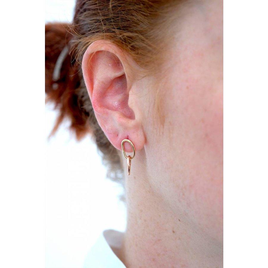 14k Rose Yellow Link Earrings