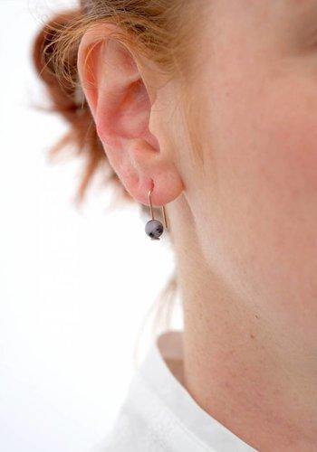 Susumi Studio 14k Moss Opal Staple Earrings