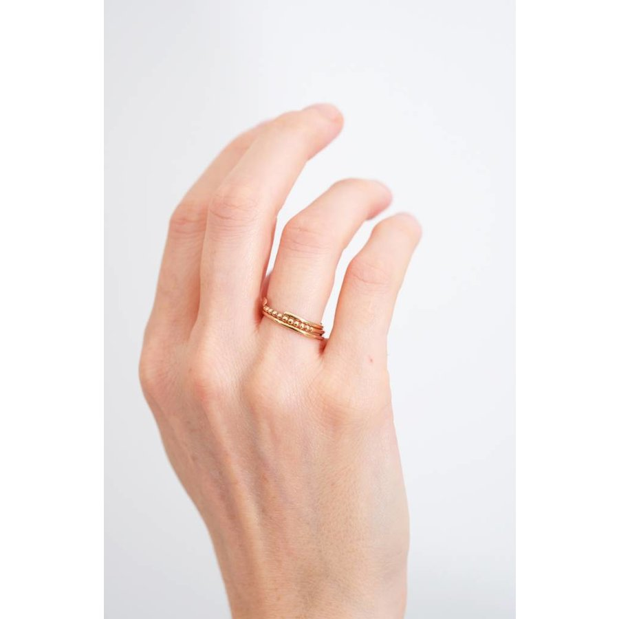 14k Split Band Ring