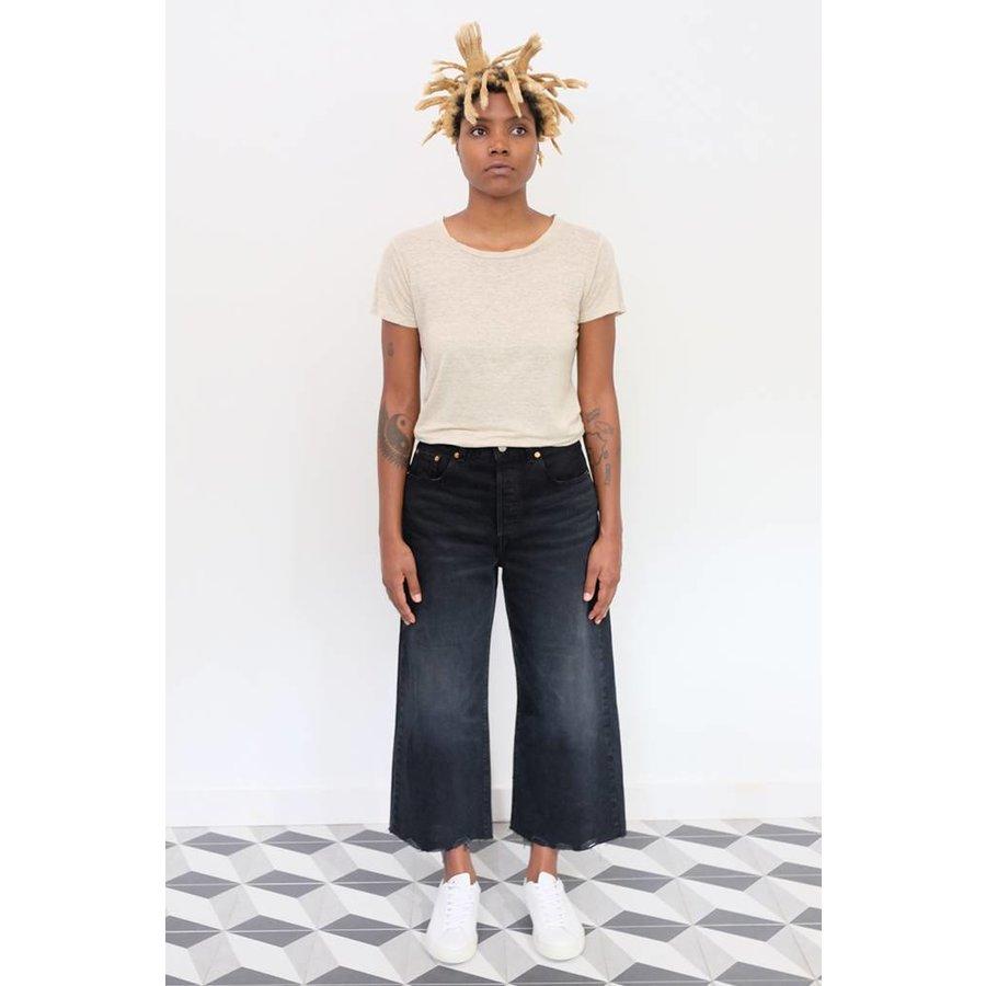 High Water Wide Leg Jeans
