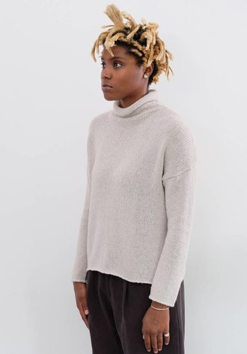 Evam Eva Ladder Lily Yarn Turtleneck
