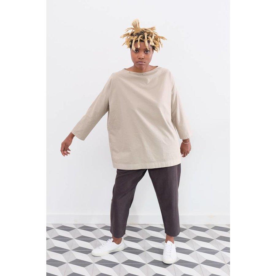 Cotton Stand Neck Shirt