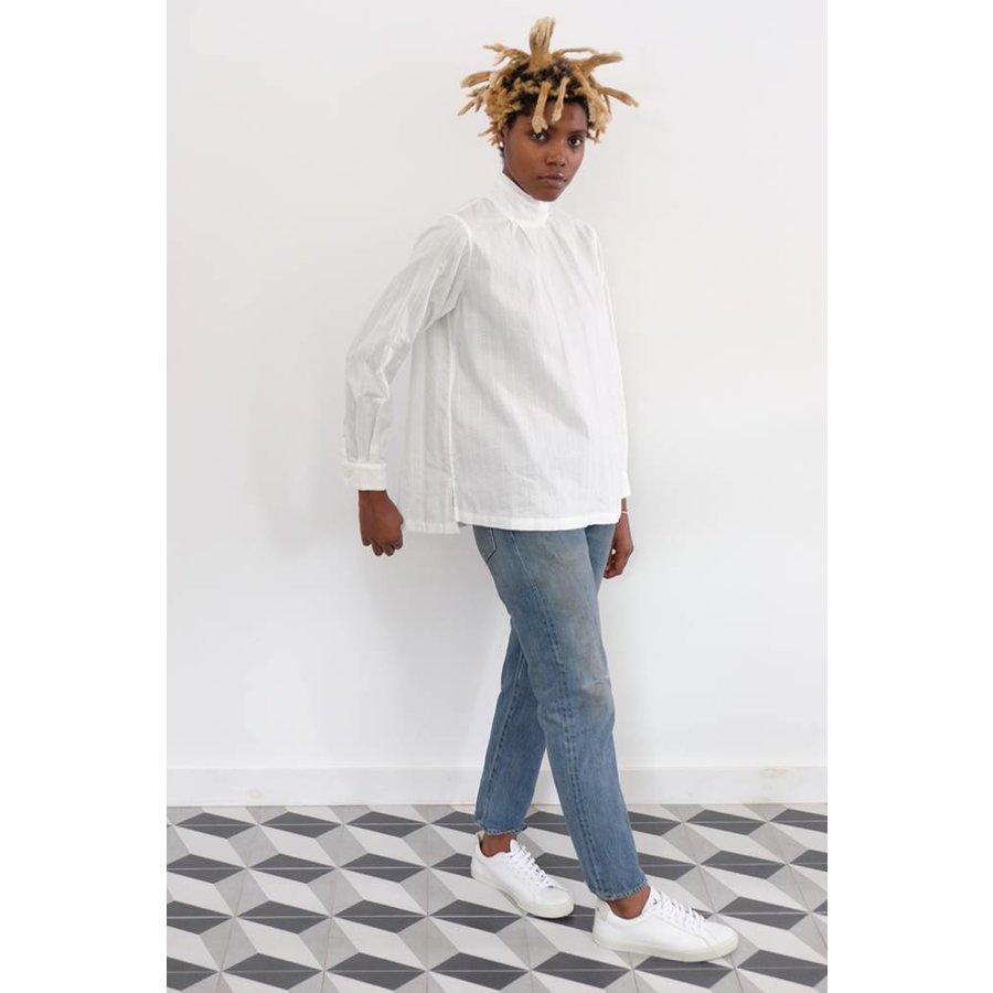 Leno Cloth High Neck Shirt