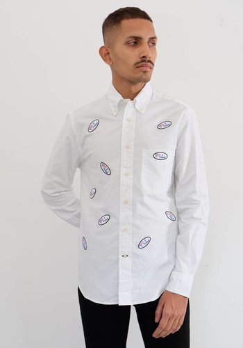 "Gitman Vintage ""I Voted"" Allover Oxford Shirt"