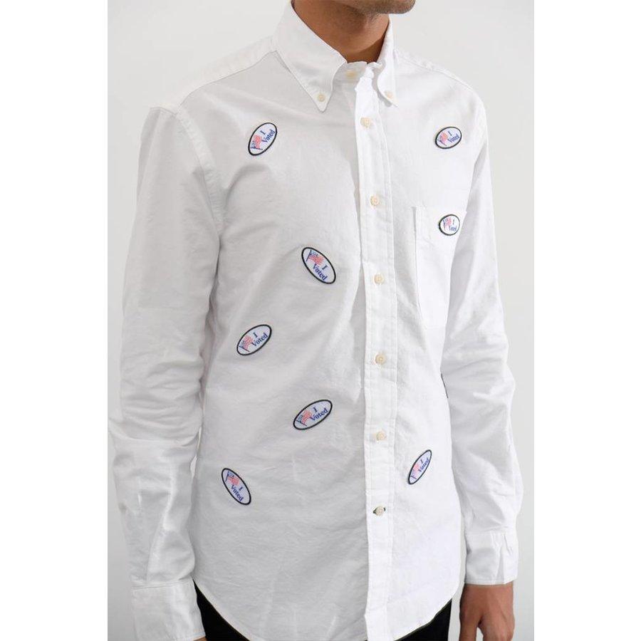 """I Voted"" Allover Oxford Shirt"