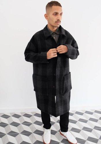Gustav Von Aschenbach Check Wool Coat