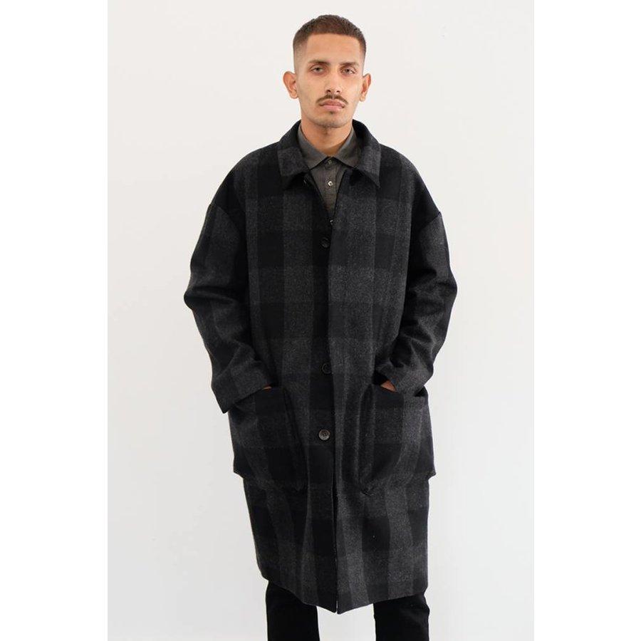 Check Wool Coat