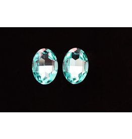 Light Turquoise Oval