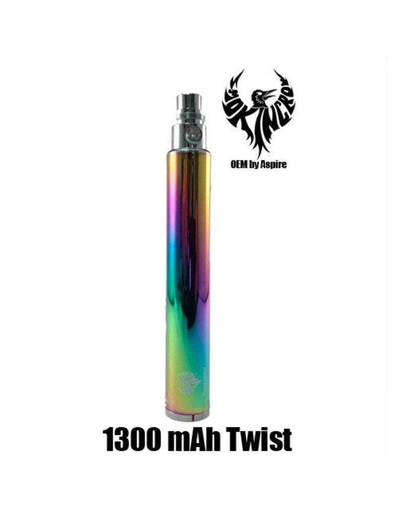 Smokin Crow Smokin Crow Regulator - EGO Twist - 1300 mAh - Rainbow