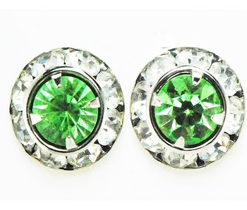 Peridot Crystal Show Earrings