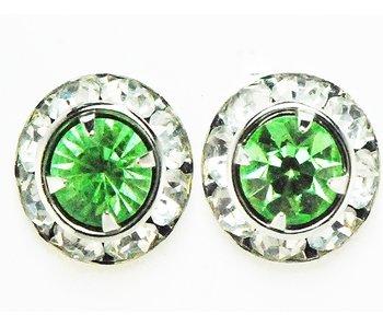 Peridot Crystal Show Earrings