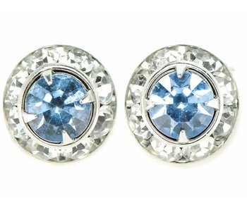 Light Sapphire Crystal Show Earrings