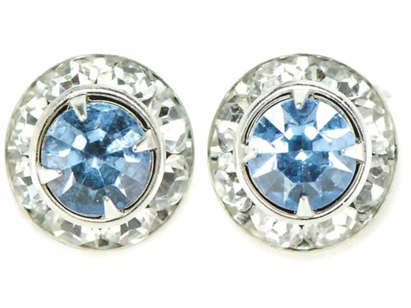 Finishing Touch of Kentucky Light Sapphire Crystal Show Earrings