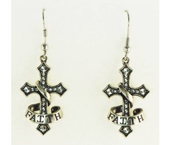 Faith Cross Earrings