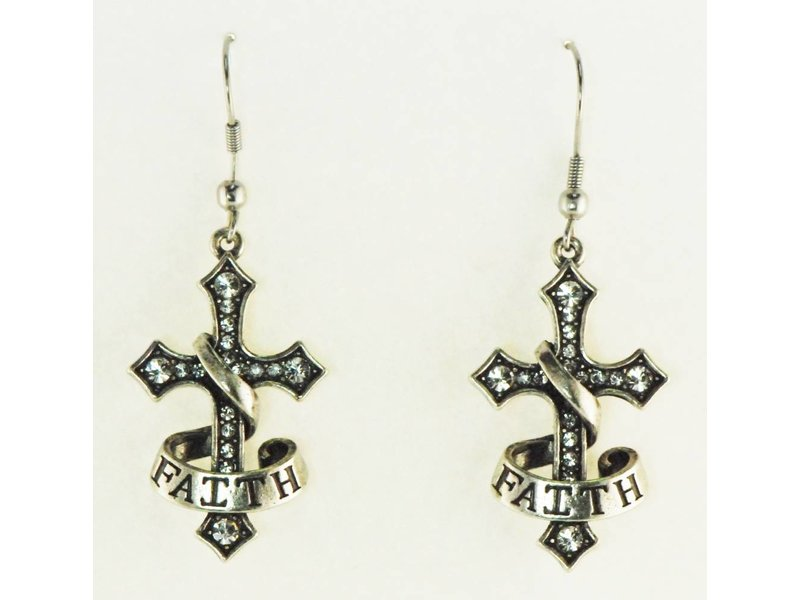 Finishing Touch of Kentucky Faith Cross Earrings