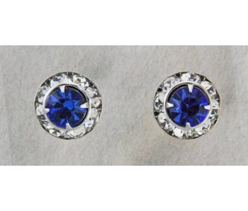 Sapphire Crystal Show Earrings