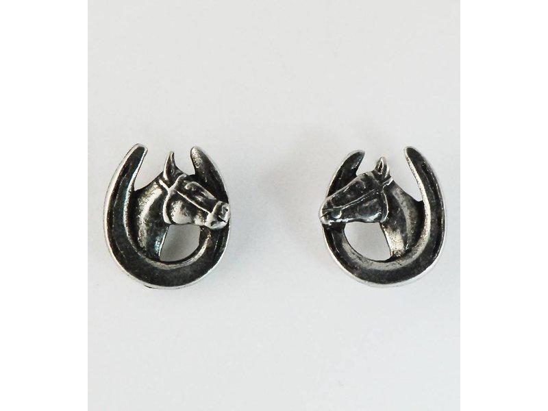 Finishing Touch of Kentucky Horse Head Shoe Earrings