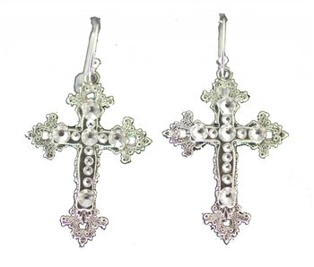 Swarovski Crystal Cross Earrings