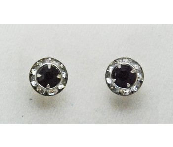 Jet Crystal Show Earrings