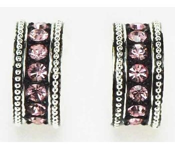Pink Stone Ring Earrings