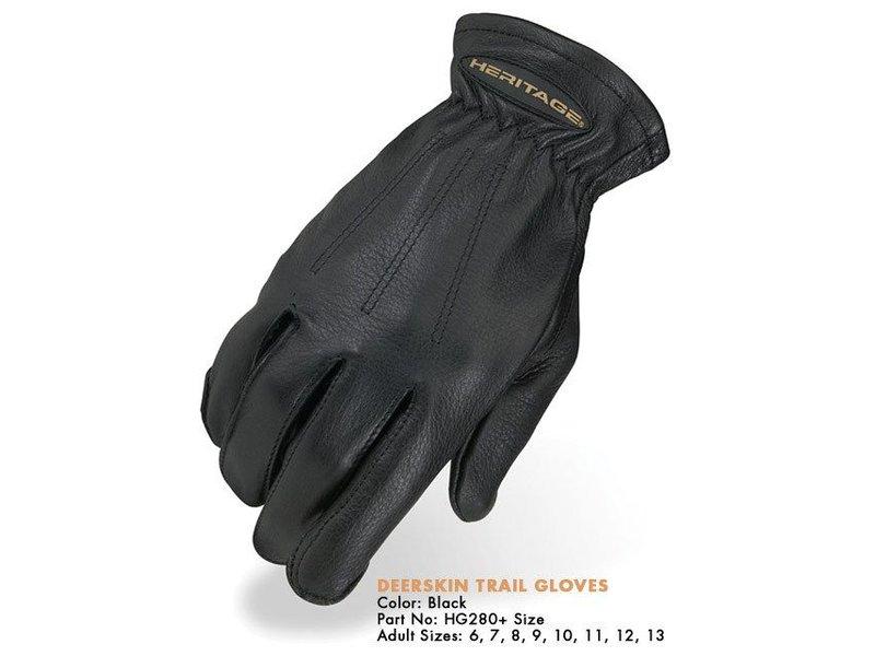 Heritage Performance Riding Gloves Deerskin Trail Glove