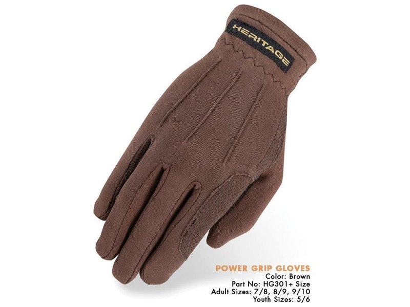 Heritage Performance Riding Gloves Power Grip Nylon Glove