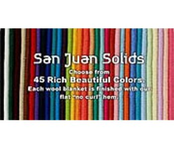 San Juan Solid Wool Saddle Blanket