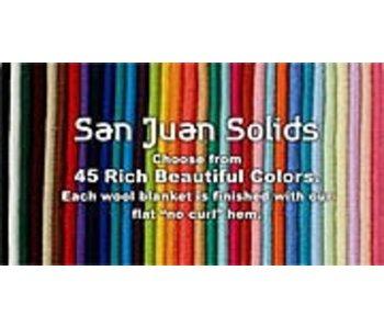 San Juan Solid Wool Saddle Blanket