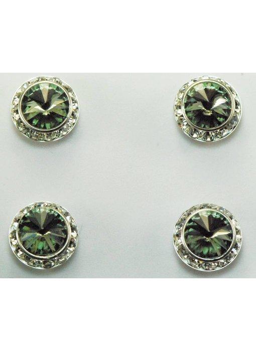 Black Diamond Preciosa Crystal Magnetic Number Pins