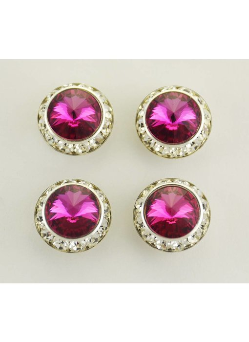 Fuschia Precosia Crystal Magnetic Number Pins