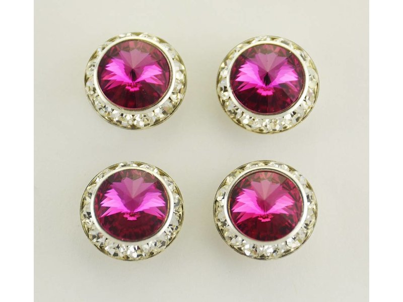 Finishing Touch of Kentucky Fuschia Precosia Crystal Magnetic Number Pins