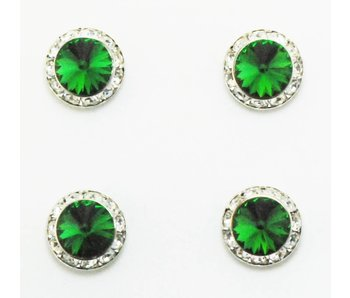 Moss Green Swarovski Crystal Magnetic Number Pins