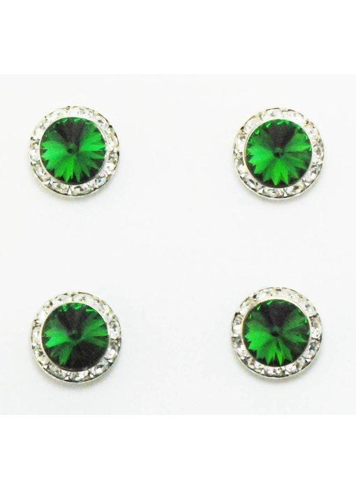 Moss Green Swarovski Crystal Magnetic Number Pins