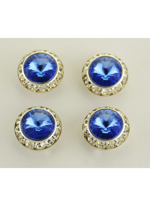 Sapphire Preciosa Crystal Magnetic Number Pins