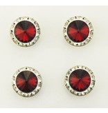 Finishing Touch of Kentucky Siam Red Swarovski Crystal Magnetic Number Pins