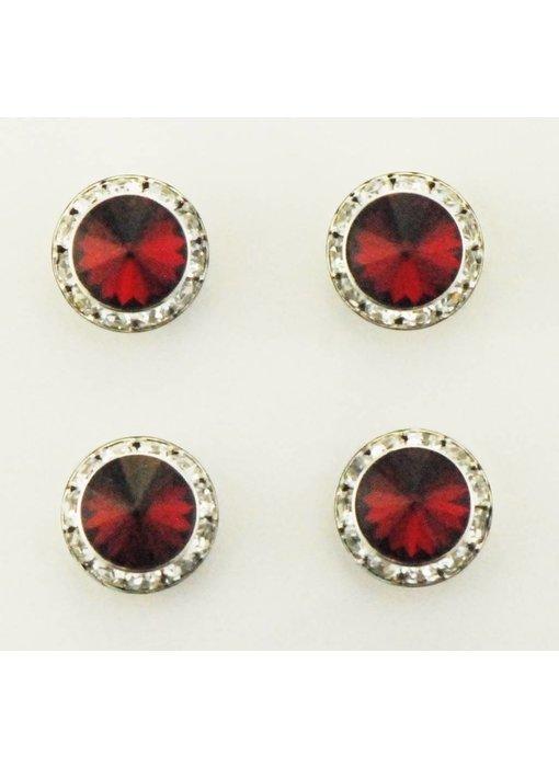Siam Red Swarovski Crystal Magnetic Number Pins