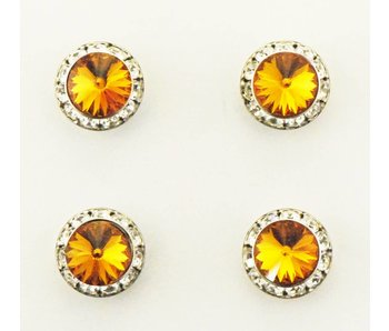 Topaz Swarovski Crystal Magnetic Number Pins