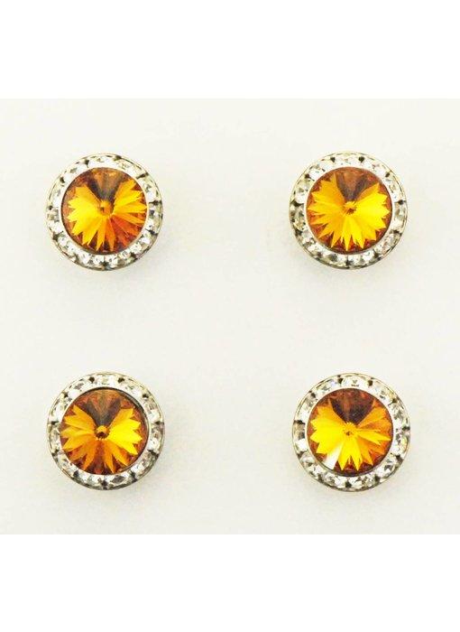 Topaz Swarovski Crystal Magnetic Number Pins