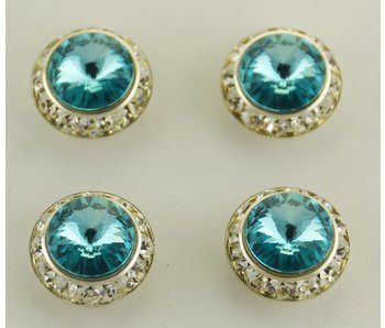Turquoise Preciosa Crystal Magnetic Number Pins
