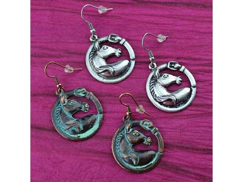 Wyo-Horse Horse Head & Buckle Earrings