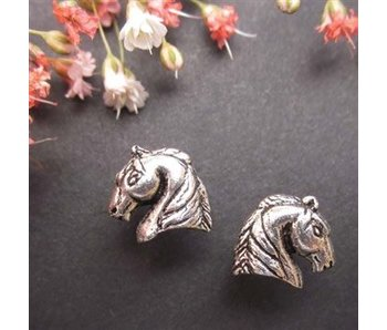 Sterling Silver Arabian Horse Head Earrings