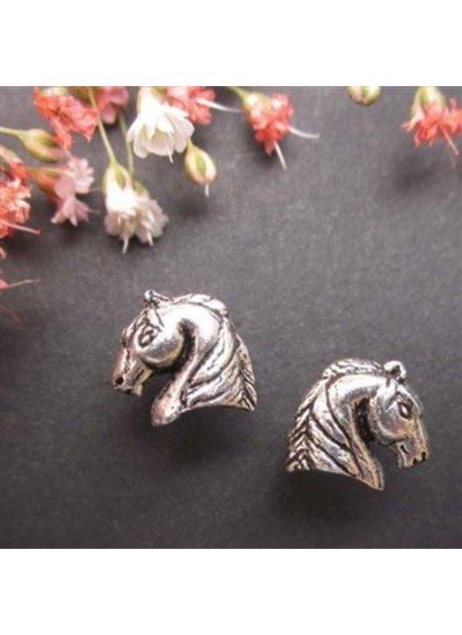 Sterling Silver Arabian Horse Head Earrings