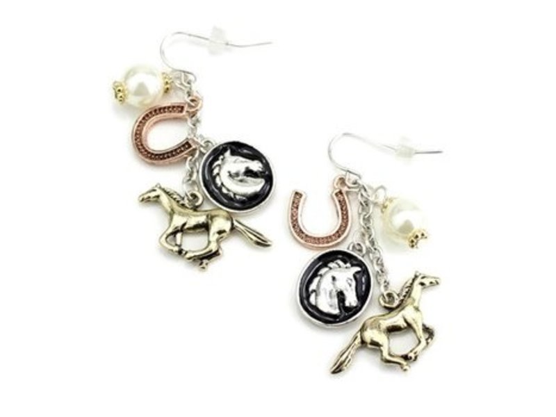 Wyo-Horse Horse Charms Wire Earrings