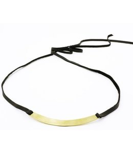 WrenGlory Leather Metal Necklace